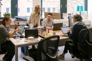 Das Team im Work-Flow